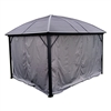 Curtain for Round Roof Aluminum and Steel Hardtop Gazebo - 10 x 12 Feet - Grey - ALEKO