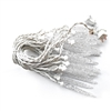 Indoor/Outdoor Crystal Cluster Icicle Lights - 25 LED Lights - 13 Foot - Clear - ALEKO