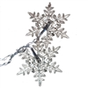 Snowflake Drop Icicle Twinkle Lights - 80 LED - 5.25 Foot - White - ALEKO