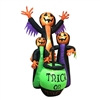 Inflatable Trick Or Treat Pumpkin Witches - 5.9 Foot - ALEKO