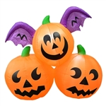 Inflatable Winged Jack-O-Lantern Trio - 5.9 Foot - ALEKO