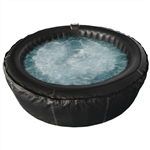 Round Inflatable Hot Tub Spa With Zip Cover - 4 Person - 210 Gallon - Black - ALEKO