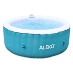 Round Inflatable Hot Tub Spa With Cover - 4 Person - 210 Gallon - Light Blue and White - ALEKO