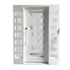 Iron Square Top Minimalist Door with Frame and Threshold - 81 x 6 x 62 inches - White - ALEKO