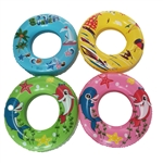 Deluxe Inflatable Pool Tube Floats - Tropical Destination - Set of 4 - ALEKO