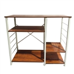 Multi-Purpose Storage Utility Baker's Rack - 4 Tier Shelving - Vintage Rustic - ALEKO