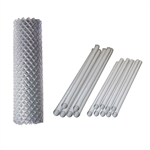 ALEKO® KITCLF4X50 Galvanized Steel Chain Link Fence 4X50 Feet Complete Kit
