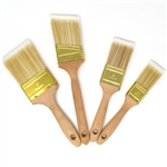 Polyester Utility Paint Brushes - Set of 4 - Flat-Cut and Angle-Sash Shapes - ALEKO