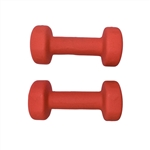 Non-Slip Hexagonal Shaped Free Weight Dumbbells - 8 lbs - Red - ALEKO
