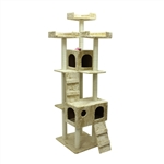 ALEKO® MP-02 185cm Height Cat Tree Condo Scratching Post<br>Colors: Beige, Gray