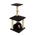 ALEKO® MP-10 83cm Height Cat Tree Condo Scratching Post<br>Colors: Brown, Cream