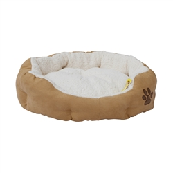 ALEKO® PB02L Large Soft Plush Beige Pet Cushion Crate Bed With Removable Insert Pillow