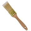 Flat-Cut Polyester Paint Brush with Wooden Handle - Gold-Plated Steel Ferrule - 1.5 Inches - ALEKO