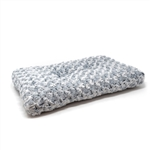 Ultra-Soft Shaggy Cushioned Pet Bed Mat - 23 x 13 Inches - Gray - ALEKO