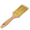 Flat-Cut Polyester Paint Brush with Wooden Handle - Gold-Plated Steel Ferrule - 2.5 Inches - ALEKO