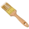 Flat-Cut Polyester Paint Brush with Wooden Handle - Gold-Plated Steel Ferrule - 2 Inches - ALEKO