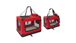 ALEKO PBCRED Heavy Duty Collapsible Pet Carrier Bag, Red (Choose your size)
