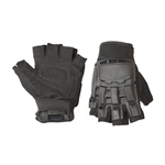 ALEKO  Paintball Airsoft Outdoor Sports Half Finger Black Gloves (Choose your size)