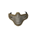 ALEKO  PBM209TN Air Soft Protective Mask Mesh Wire Half Face Chin Mouth Coverage, Tan Color