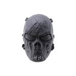 ALEKO  PBSM23 Skeleton Airsoft Mask Tactical Protective Safety Skull Mask With Wire Mesh Goggles, Black