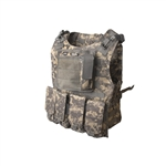 ALEKO  PBTV52 Paintball Airsoft Chest Protector Tactical Vest Outdoor Sports Body Armor, Camouflage