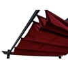 Pergola Canopy Fabric Replacement - 9 x 9 Feet - Burgundy - ALEKO