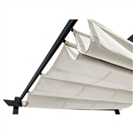 Pergola Canopy Fabric Replacement - 9 x 9 Feet - White - ALEKO