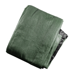Privacy Mesh Fabric Screen Fence with Grommets - 4 x 25 Feet - Dark Green - ALEKO