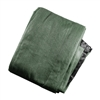 Privacy Mesh Fabric Screen Fence with Grommets - 6 x 25 Feet - Dark Green - ALEKO