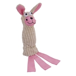 ALEKO PT03PI Squeaky Plush Rabbit Pet Toy for Dogs and Cats, Pink
