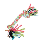 ALEKO PT04 Puppy Dog Chew Toy Chewing Rope with Knots and Playful Strings, Multicolored