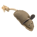 ALEKO PTM01GR Cotton Denim Pet Toy Mouse Chewing Fetch Toy for Dogs and Cats
