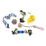 Dog Rope Toy 7-Pack - Multicolor - ALEKO