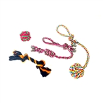 Dog Rope Toy 4-Pack - Multicolor - ALEKO