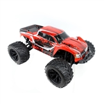 Brushless Off-Road PRO 4WD Electric Powered RC Monster Truck - 1:10 Scale - Red - ALEKO