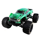 Brushless Off-Road PRO 4WD Electric Powered RC Monster Truck - 1:10 Scale - Green - ALEKO