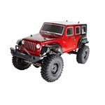 Rock Crawler Off-Road 4WD Electric Powered RC Jeep - 1:10 Scale - Red - ALEKO
