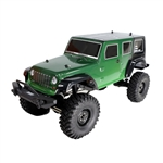 Rock Crawler Off-Road 4WD Electric Powered RC Jeep - 1:10 Scale - Green - ALEKO