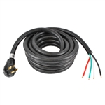 "ALEKO® RV50-50 50' (15.2m) 50Amp Power Cable With Regular male plug and 6"" loose end"