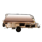 Retractable RV/Patio Awning - 10 x 8 Feet - Brown Fade - ALEKO