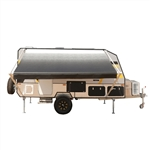 Retractable RV/Patio Awning - 12 x 8 Feet - White/Black Fade - ALEKO