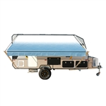 Retractable RV/Patio Awning - 13 x 8 Feet - Blue Fade - ALEKO