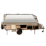Retractable RV/Patio Awning - 13 x 8 Feet - Grey - ALEKO