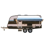 Motorized Retractable RV/Patio Awning - 10 x 8 Feet - Blue Fade - ALEKO