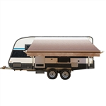 Motorized Retractable RV/Patio Awning - 12 x 8 Feet - Brown Fade - ALEKO