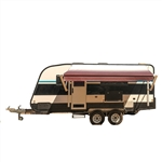 Motorized Retractable RV/Patio Awning - 12 x 8 Feet - Burgundy Fade - ALEKO