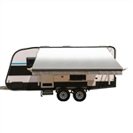 Motorized Retractable RV/Patio Awning - 13 x 8 Feet - Grey - ALEKO