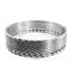 Heavy Duty Razor Barbed Wire - 33 Loops - 50 feet long - Silver - ALEKO