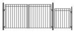 Set of ALEKO® MADRID Style Steel Swing Dual  Driveway 3.7 m with Pedestrian Gate 1.2 m