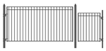 Set of ALEKO® MADRID Style Steel Swing Single Driveway 3.7 m with Pedestrian Gate 1.2 m